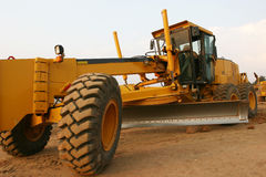 Grader road construction Stock Images
