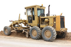 Grader road construction equipment Royalty Free Stock Photography
