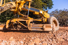 Grader Road Construction Royalty Free Stock Photo