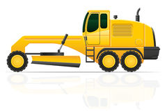 Grader for road works  illustration Royalty Free Stock Photos