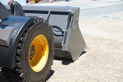 Grader staying on the road. Stock Photo