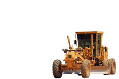 Grader. With the white background stock photography