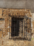 Grades de janela do metal, velhas Foto de Stock Royalty Free