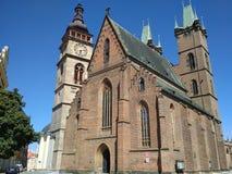Gradets-KRALOVE, ΔΗΜΟΚΡΑΤΊΑ ΤΗΣ ΤΣΕΧΊΑΣ - 7 Αυγούστου 2018: Καθεδρικός ναός του ιερού πνεύματος - μια καθολική εκκλησία στην πόλη Στοκ Εικόνες