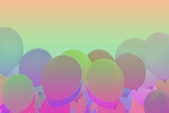 Gradiënt achtergrondballons stock fotografie