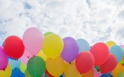 Gradiënt achtergrondballons stock foto