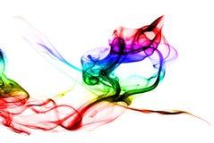 Gradiënt Gekleurde dampvorm op witte achtergrond stock foto's