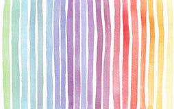 Gradiënt geploeterde die regenboogachtergrond, hand met waterverfinkt wordt getrokken Naadloos geschilderd patroon, goed voor dec royalty-vrije illustratie
