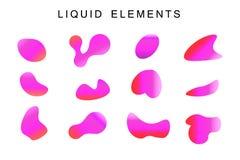 Gradiënt iriserende vormen reeks stock illustratie