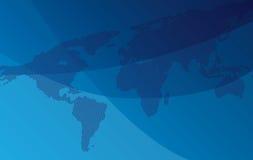 Gradiëntachtergrond met kaart van wereld Royalty-vrije Stock Afbeeldingen