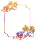 Gradiëntetiket met decoratieve bloemen De ruimte van het exemplaar Royalty-vrije Stock Foto's