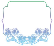 Gradiëntetiket met decoratieve bloemen De ruimte van het exemplaar Royalty-vrije Stock Foto