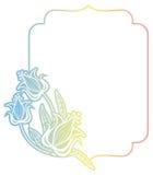 Gradiëntetiket met decoratieve bloemen De ruimte van het exemplaar Royalty-vrije Stock Afbeeldingen