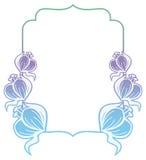 Gradiëntetiket met decoratieve bloemen De ruimte van het exemplaar Stock Fotografie
