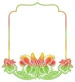 Gradiëntetiket met decoratieve bloemen De ruimte van het exemplaar Royalty-vrije Stock Afbeelding