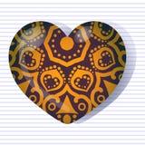 Gradiënthart voor de dag van de valentijnskaart Stock Foto's