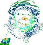 Gradiëntillustratie van Ganesha-illustratie Ganapati en wierook vector illustratie