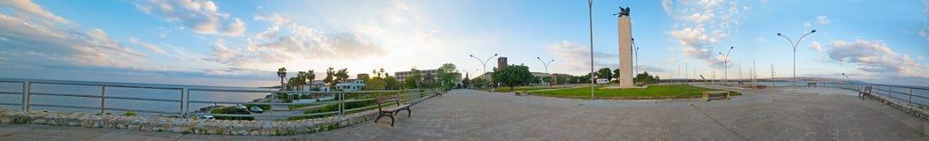 360 gradi di panorama del quadrato di Fertilia Fotografia Stock