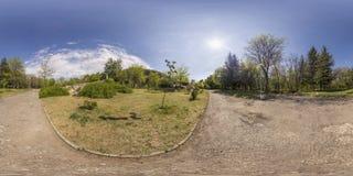 360 gradi di panorama del tepe di Dzhendem anche conosciuto come la gioventù ciao Fotografia Stock