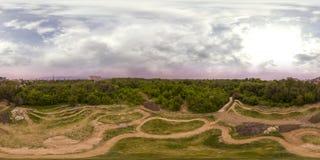 360 gradi di panorama della ricreazione e cultura parcheggiano in Plovd Fotografie Stock
