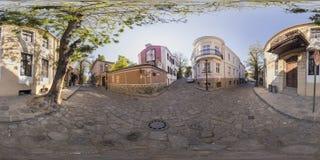 360 gradi di panorama di Art Gallery La Boheme a Filippopoli, Bulga Fotografia Stock