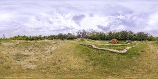 360 gradi di panorama di una pista ciclabile a Filippopoli, Bulgaria Immagine Stock Libera da Diritti