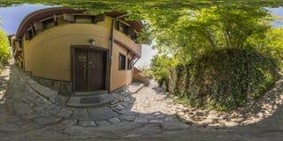 360 gradi di panorama di vecchia città a Filippopoli, Bulgaria Fotografie Stock Libere da Diritti