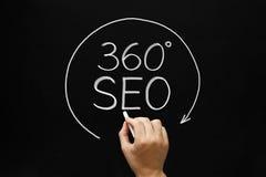 360 gradi di SEO Concept Fotografie Stock Libere da Diritti