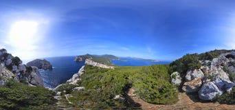 360 gradi di vista della linea costiera di Caccia del capo Immagine Stock Libera da Diritti
