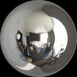 gradi sferici dell'illustrazione 3d 360, panorama senza cuciture di bedr Fotografia Stock Libera da Diritti