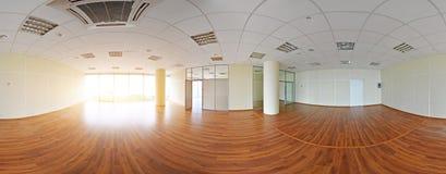 360 gradi sferici della proiezione di panorama, panorama nella stanza vuota interna in appartamenti piani moderni Immagini Stock Libere da Diritti