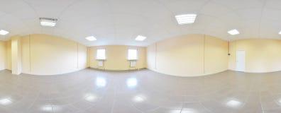 360 gradi sferici della proiezione di panorama, panorama nella stanza vuota interna in appartamenti piani moderni Immagine Stock Libera da Diritti