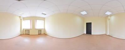 360 gradi sferici della proiezione di panorama, panorama nella stanza vuota interna in appartamenti piani moderni Fotografia Stock Libera da Diritti