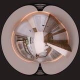 gradi sferici di panorama senza cuciture del bagno dell'illustrazione 3d 360 Immagine Stock Libera da Diritti