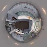 gradi sferici di panorama senza cuciture della cucina dell'illustrazione 3d 360 Immagini Stock Libere da Diritti