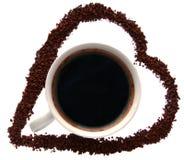 Gradico il caffè Fotografie Stock Libere da Diritti