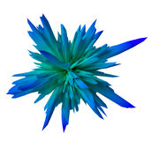 Gradient abstract form - blue Royalty Free Stock Photos