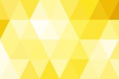 Gradient abstrait d'or de triangles pour le fond Style géométrique Photos stock