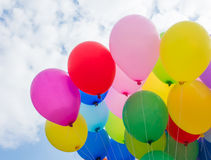 Gradient background balloons. Full color Stock Image