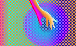 Gradient background texture with elegant hand girl, Shape massage of beautiful young woman. Arm is suitable for weight loss, spa s. Alon or a healthy lifestyle royalty free illustration