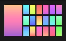 Gradient backgrounds for design. Light bright colorful gradient backgrounds for design Stock Images