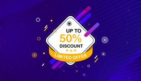 Abstract and new sale, offer and promotion banner vector illustration