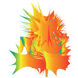 Gradient Blasting Design. A colorful illustration with gradient blasting effect Stock Photography