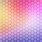 Gradient blue color and triangle polygon pattern background () Stock Images