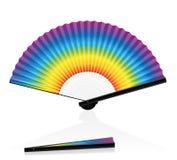 Gradient coloré d'arc-en-ciel de fan de main Photographie stock