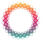 Gradient color abstract round frame. Copy space. Raster clip art. Gradient color abstract round frame. Copy space. Guilloche border for certificate or diploma Royalty Free Stock Photos