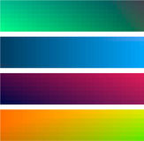 Gradient color banners backgrounds Royalty Free Stock Photos
