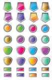 Gradient color button Pack Royalty Free Stock Photos