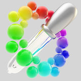 Gradient color picker icon isolated Stock Image