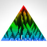 Gradient colored triangle technological structure Stock Photography